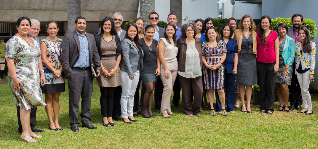 All the people from the Costa Rican Ministry of Justice and Peace who attended the workshop