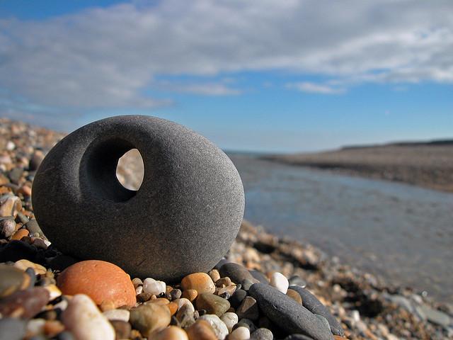 a stone with a hole